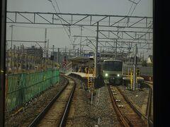 喜多山駅。高架工事中。 もともと左側に瀬戸線の車庫があったが、尾張旭駅近くに移転した。