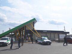 50分くらい乗ると、終点の烏山駅です。