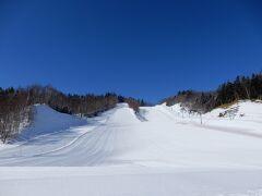 ここが緑スキー場です。 天気がほんとうにいいです。
