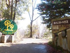 12:40 なるかわ園地森のレストハウス入口に到着。