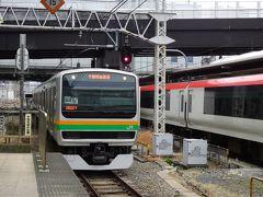 湘南新宿ラインの宇都宮行き普通電車がやってきました。
