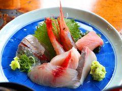 せっかくの西伊豆の漁港なので、ランチは地魚の刺身定食で。 【民芸茶房】は地元の食材にこだわっていて、お米もワサビも地元で採れた食材を使っている。  ツブツブ感が残る本わさびをお刺身に付けて食べたのだが、鮮度の高い魚と摩り下ろしたばかりのワサビの食感と香りが絡み合い、かなりの絶品。
