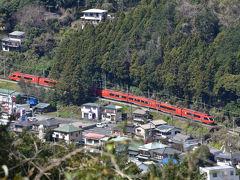 また、眼下にはロマンスカーGSEが箱根の山を下りて来ました。