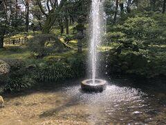 噴水。 江戸時代に作られたもので、 日本に現存する最古の噴水だそうです。 江戸時代にこんな噴水を作る技術があったなんて驚きです。