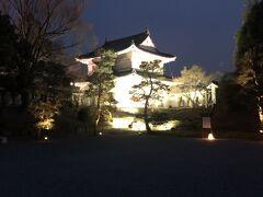 夜の二条城! ライトアップイベントしてます。 夜の桜まつり。  18時過ぎはまだ明るかったので暗くなるまでゆっくり回って、2周目に突入したころにいい感じの暗さに!笑