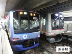 6:38 渋谷に到着。 左の電車(東急東横線)から右の電車(東京メトロ副都心線)に乗り換えます。 東京メトロだけど、横浜高速鉄道所属の車両だね。  ②東京メトロ:各停.志木行 渋谷.6:37→新宿3丁目.6:45 [乗]横浜高速鉄道:Y503