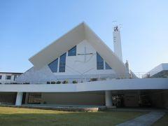せっかくなので、閉館ぎりぎりにサビエル記念聖堂。 数年前から体制が変わったようで、1階の資料館は献金のみ(以前は入館料300円)となり、見学後に2階の聖堂に入れるようになってました。