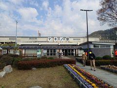 琵琶湖を右に見ながら70分で マキノ駅到着