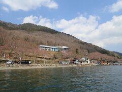 二本松キャンプ水泳場  花見船の下船場所 桜もないのですが、75分散策します