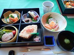 レストラン 竹生で、 琵琶湖を眺めながらランチをいただきます