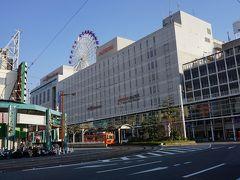 ●松山市駅  市駅界隈まで戻って来ました。 松山の中心です。 この大きな建物は、いよてつ高島屋です。 JR松山駅よりも、伊予鉄の松山市駅界隈の方が栄えています。