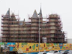 ステーン城は改修中でした。