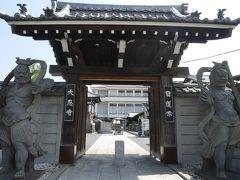 福寿通りに差し掛かり左折して又、北区に入った。 この通りは寺社が点在していて、立派な仁王像の大恩寺もその1つ。