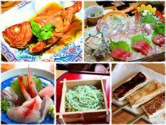 西伊豆と言えば忘れていけないのが魚介で、ランチも夕食も海鮮はマスト。 昨晩の夕食に頂いたキンメの煮つけは、今まで食べた金目鯛の中で一番おいしかった。