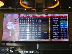 ホテルに荷物を取りに行きタクシーで松山空港へ。  お腹いっぱいで到着。