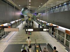 MRT「松山機場駅」 台湾の地下鉄は、広くて綺麗で分かり易くて大好き。