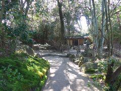 次に美術館横から入る 本間氏別邸庭園「鶴舞園」です