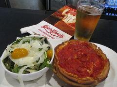 ループ内に戻ってシカゴピザの昼食