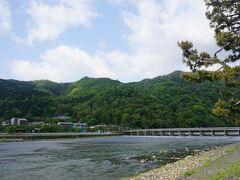 「渡月橋」が見えてきた。最終日天気良し!嵐山方面へ。 まずは【 竹林の小径 】へ