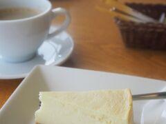 霧多布湿原センターのカフェで、チーズケーキをいただきま~す。 あっさりしていて、なかなか!