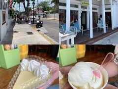 Key WestといえばのKey Lime Pie。Duval St.沿いにあった小さな店にて。 まさに本場に来て食べているんですなあ。ジェラートも美味。 熱中症予防効果あるかな