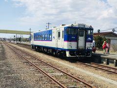 鵡川駅 ここまでは鉄道が繋がってますが、地震の影響で徐行運転でした。