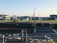静内駅到着 一番奥まで往復して27㎞ちょいでした ちょうど良い距離