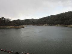 ダム天端よりダム湖方面を望む  「羽布ダム」によって形成されたダム湖は「三河湖」と言います
