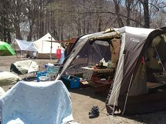 知り合いがGW中キャンプをしていたので訪問しました。