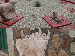 小さいプカラの町にある博物館。プカラ文明は、のちのティワナク文明やインカ文明に大きな影響を与え、ルーツになった文明。展示室は数室ほどしかない小さな博物館ですが、珍しい出土品が展示されています。