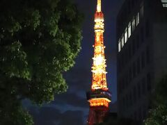 大門付近から東京タワー。
