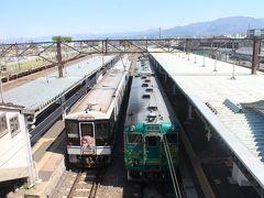 そして会津若松から、会津鉄道の「お座トロ展望列車」に乗車。