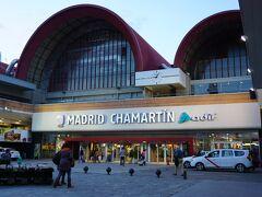 夜8時くらいにホテルをチェックアウトして、チャマルティン駅へ。 ここもホテルからタクシーで10分くらい。
