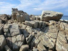 14:28 次にやって来たのは「ムシロ瀬」です。 花崗岩がムシロのよいに敷き詰められているように見える事からこの名がついたそうです。  ※ムシロ瀬.14:23-14:33