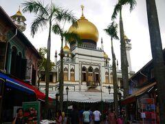 お久しぶり~なサルタンモスク。 この時間は見学不可なので外観だけ。