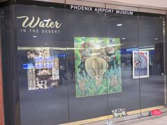 フェニックス国際空港の各ターミナルには、少しずつ現地の景色や特徴をアートにした展示が飾られていました。