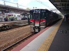 宮島口から山陽本線の普通列車で岩国に向かいます。