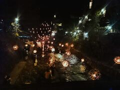 冬シーズンは、「黒川温泉 湯あかり」が開催中。 本館から別館へ戻る途中で、寄り道。