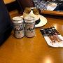 ラウンジで有料ビールとおつまみで出発の乾杯!!