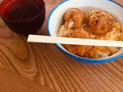 名物の「おおあさり丼」です。カツ丼のアサリ版みたいな感じです。 美味しくてぺろっといけます。