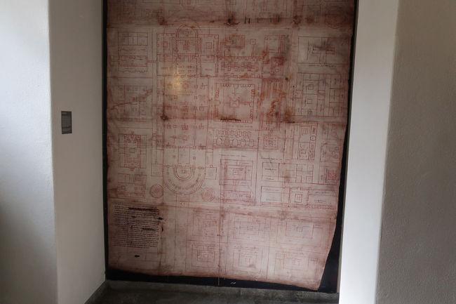中には大聖堂の設計図も展示してあります。あの時代にしては凄い(18世紀)。日本ではお城を作っていた時代にあたります