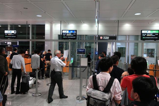 待ち時間もあっという間に過ぎ、優先搭乗で飛行機に乗りこみます。SFCのメリットを感じます