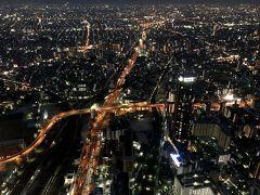 大阪の夜景も綺麗だけれど、スカイツリーからのほうが光の粒が多かった。 やっぱり、東京って凄いんだなぁ。