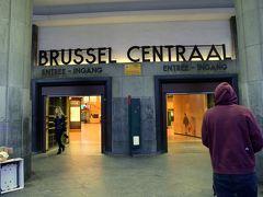 朝のブリュッセル中央駅。