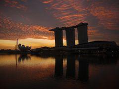 3日目~ シンガポールの朝焼けです。 今日も雲多めですねえ。