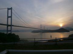 朝日の来島海峡大橋