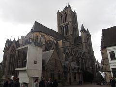 <聖バーフ大聖堂> 失意のどん底ですが(笑)目の前に大聖堂があります。