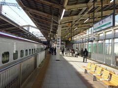 まだ朝8時すぎです。 改めて新幹線はすげえな。