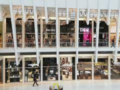 日本で写真を見た時はモニュメントのような施設なのかと思ってたがゴリゴリのショッピングモールだった。両サイドにはブランドショップがひしめく。
