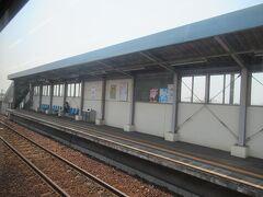 浦田駅に停車した後(写真が撮れなかった)、その次の弥生駅。